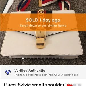 SOLD!! Authentic Gucci Sylvie small shoulder bag!
